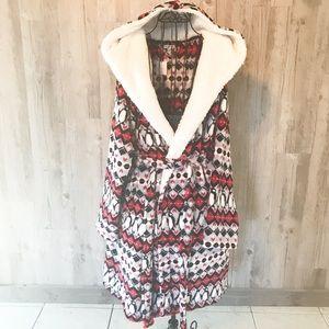 Vera Bradley hooded fleece robe penguin S/M